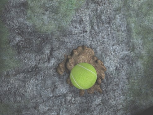 Agatha Christie Screens Show Off Powerful Tennis Ball Dropping On Turd Engine