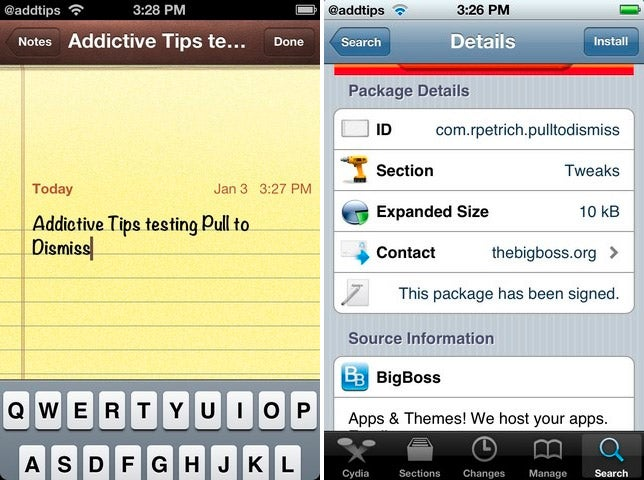 Pull to Dismiss Tweak Hides Your iPhone's Keyboard by Swiping Down