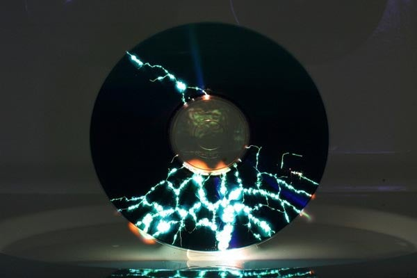 Gorgeous Shots Of Microwaved CDs