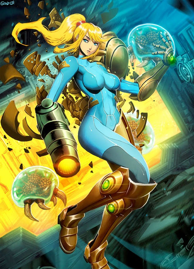 Metroid's Zero Suit Samus Given the 'Genzoman' Treatment