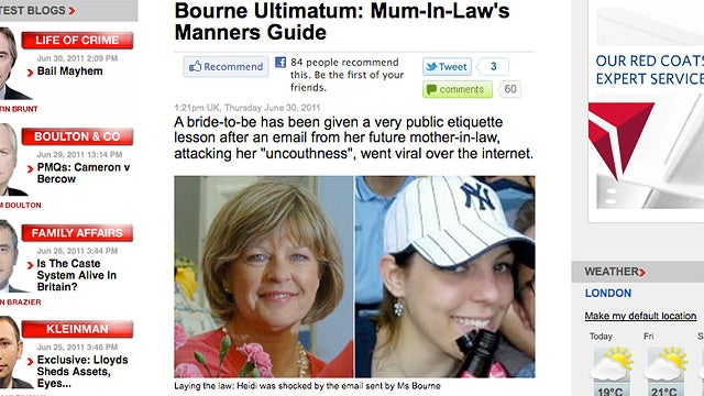 Meddling Mother-In-Law Sends World's Bitchiest Email About Manners