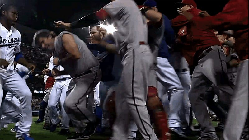 Yasiel Puig Takes Fastball To Face, Stays In Game, Sparks Huge Brawl