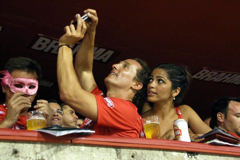 Matthew McConaughey & Camilla Alves Get Snap Happy