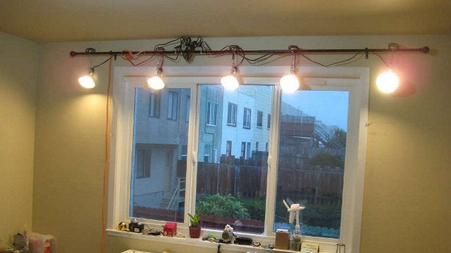 DIY Inexpensive Track Lighting Based on a Curtain Rod