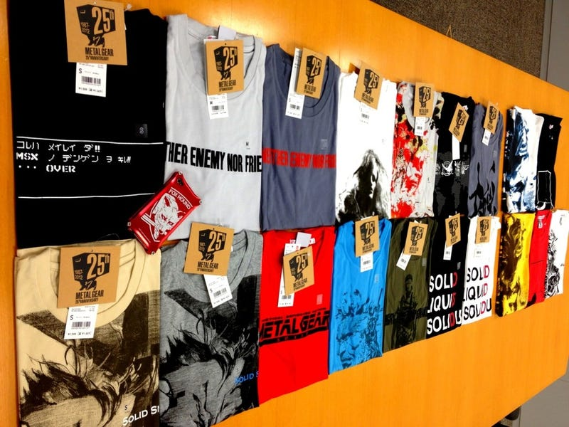 Just Look at All These Metal Gear Shirts