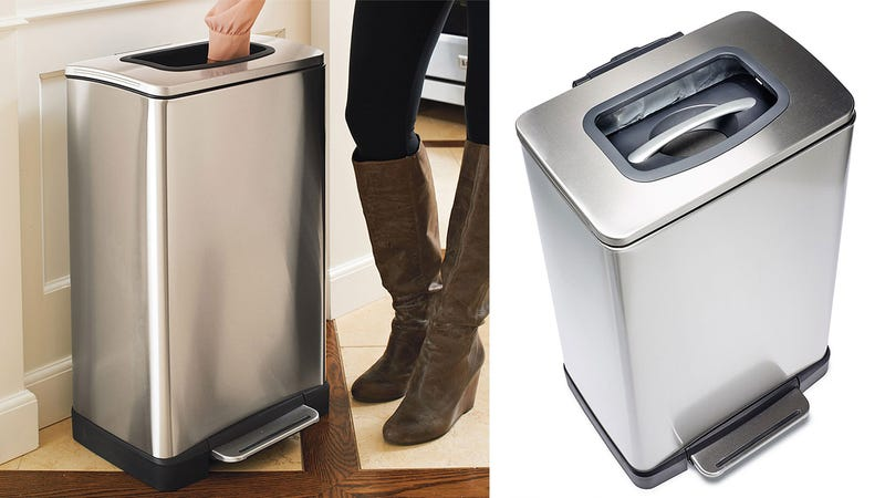A Garbage-Crushing Trash Can You Control With Your Bare Hands