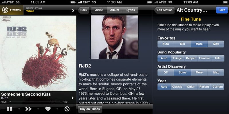 New Slacker iPhone App Works Harder to Smack Pandora