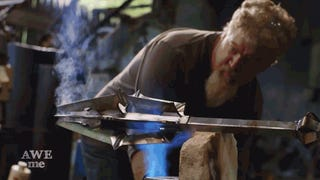 Just a Couple Dudes Building Sauron's Mace From <i>Lord of the Rings</i>