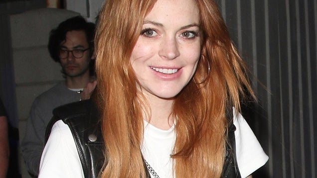 Supposedly Sober Lindsay Lohan Spotted Drinking Vodka at Coachella