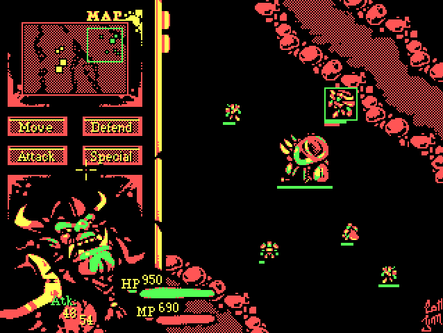 Warcraft Re-Imagined in Retro Color Graphics