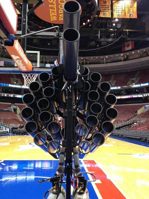 The 76ers' T-Shirt Gun Looks Capable Of Ending A Human's Life