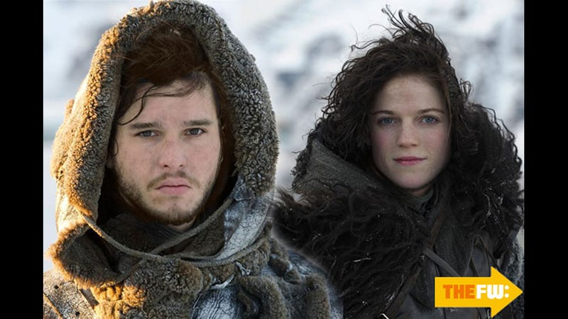 The Game of Thrones Face Swap for Jon Snow and Ygritte Looks Like Regular Jon Snow and Ygritte