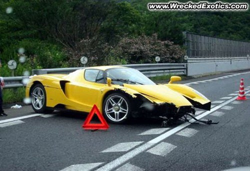 "Save The Enzos: Priceless Ferrari Wipes Out In ""Light"" Japanese Rain"