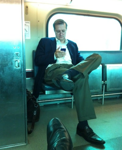 A Dejected Tom Ricketts Rides The Train
