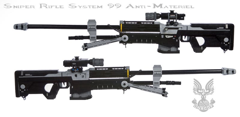 Some Guy Built a 1:1 Replica Halo Sniper Rifle (Out of LEGO)