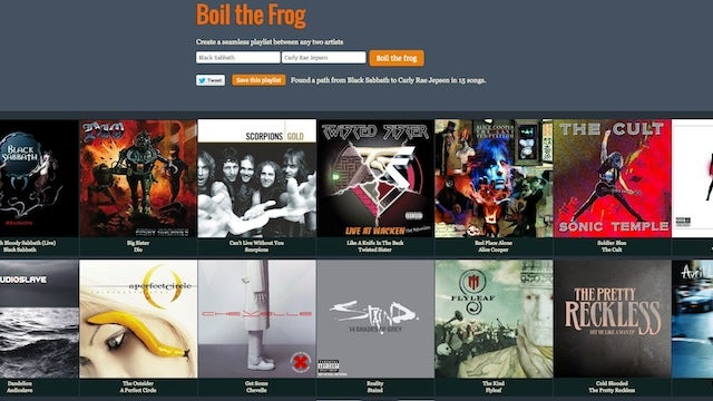 "Boil the Frog Creates ""Six Degrees of Separation"" Style Playlists that Lead from One Artist to Another"