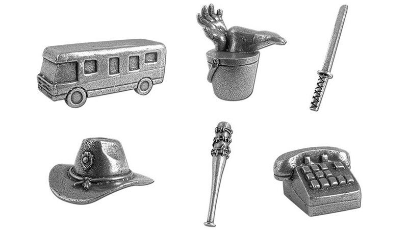 The Walking Dead Monopoly has the best playing pieces ever