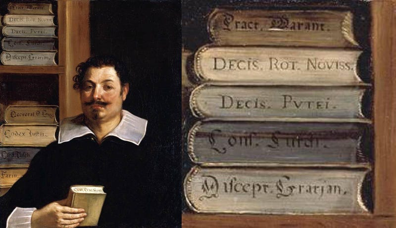 How Tiny Details in Paintings Reveal a Secret History of Books