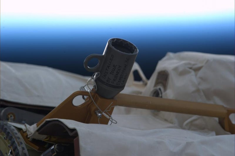 There are secret messages left aboard the International Space Station