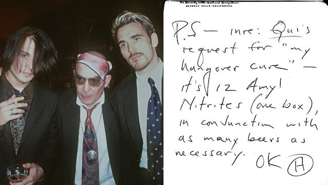 Hunter S. Thompson's Hangover Cure
