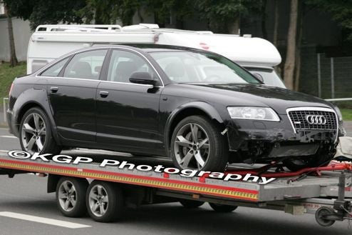 2010 Audi A7 Caught Testing, Crashing Near The Nürburgring