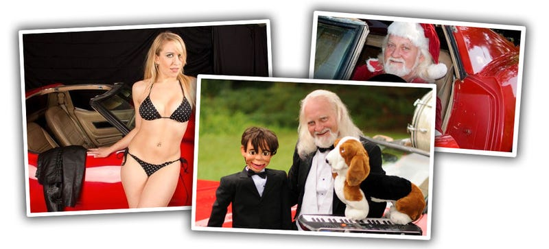 Santa, Bikini Babes, And A Dummy Make For A Bizarre 'Vette eBay Ad