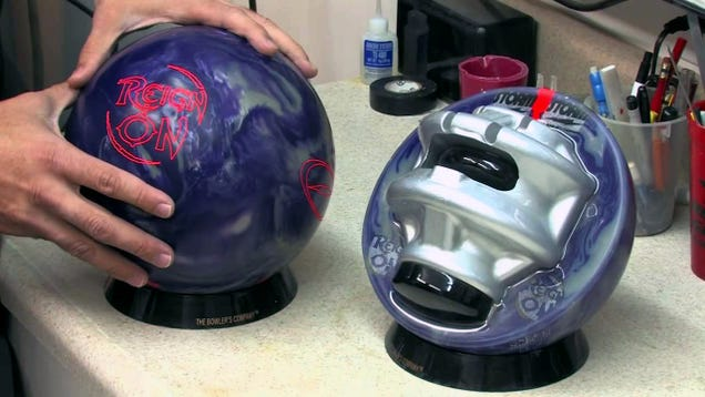 Holy crap, I never realized bowling balls had this weird stuff inside