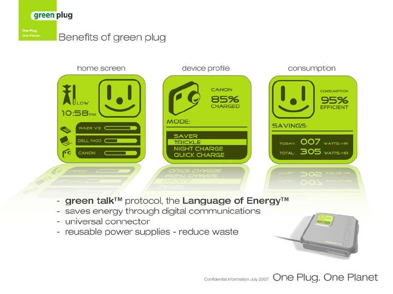 Green Plug Is Promiscuous and Energy Efficient Like a Lady of the Night