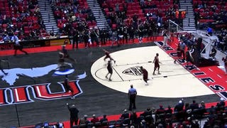 Central Michigan Basketball Player Nearly Crushed By Collapsing Hoop