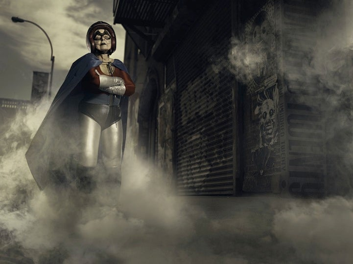 Artist turns his grandmother into a superhero to cheer her (and us) up