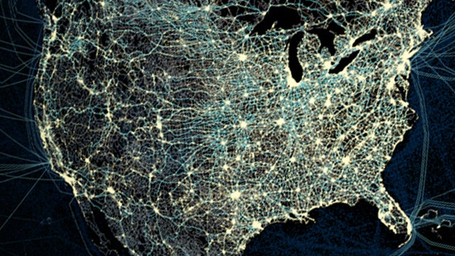 All the roads and flight paths America is taking for Thanksgiving