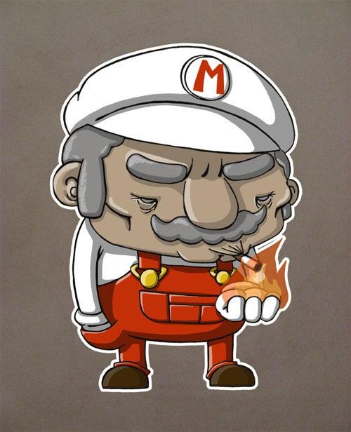 Mario Shows His Twenty-Five Years