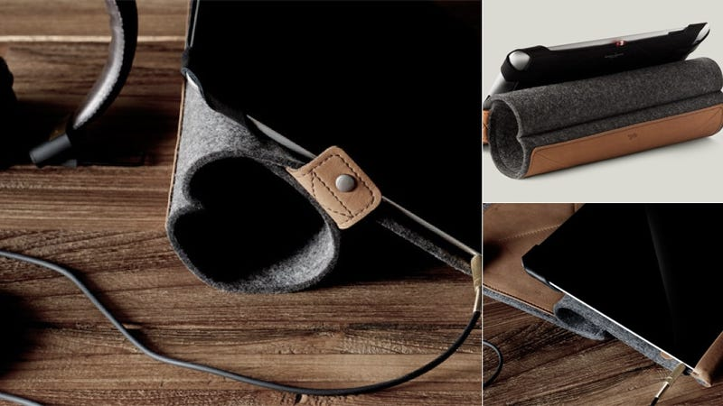 Wool Felt iPad Case Rolls Itself Into a Subtle Tablet Stand