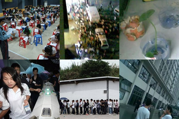 Clandestine Photos From Inside Foxconn's Factory