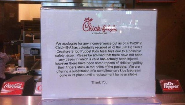 Did Chick-fil-A Pull Creature Shop Kids Meal Toys Over Jim Henson Company Boycott? [UPDATE: Yes.]