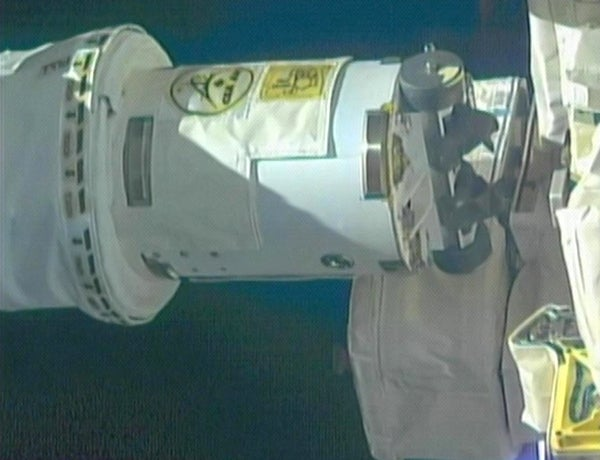 A Self-Repairing Space Robot on the International Space Station