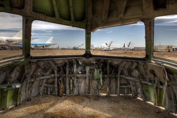 Silent scenes from the airplane graveyards of the American Southwest
