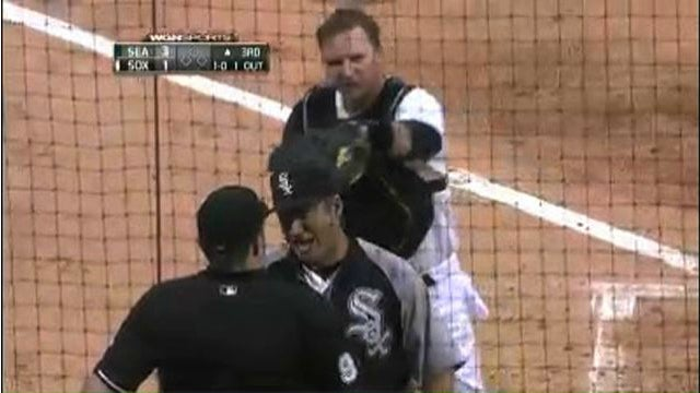 Lance Barrett Tosses A.J. Pierzynski And Robin Ventura, Shameless Homer Hawk Harrelson Goes Off Again