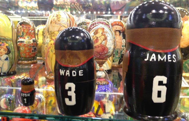 Chris Bosh Gets No Respect In The Russian Nesting Doll Game