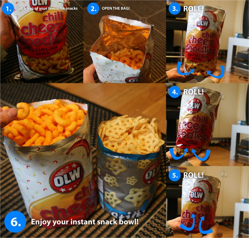 Create an Instant Snack Bowl from Any Snack Bag