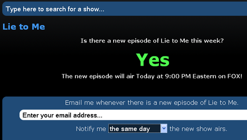 RerunCheck Notifies You if Your Favorite Show is a Repeat