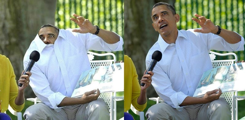 This Photo of President Obama in His Shirt Is Totally Fake
