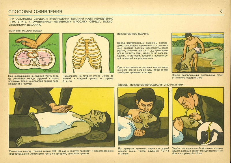 Weird Soviet Civil Defense Graphics from the Cold War May Disturb You