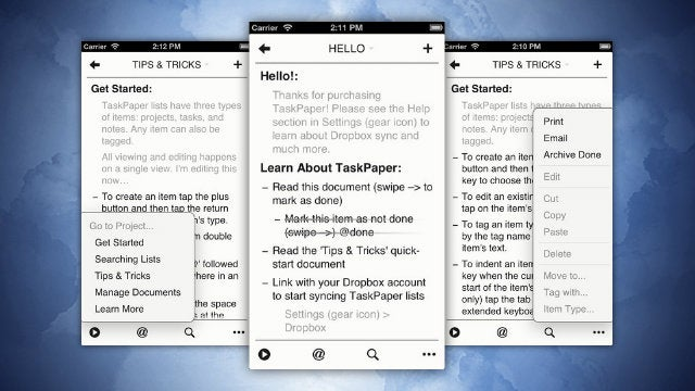 TaskPaper To-Do App Available for 90% Off, Today Only