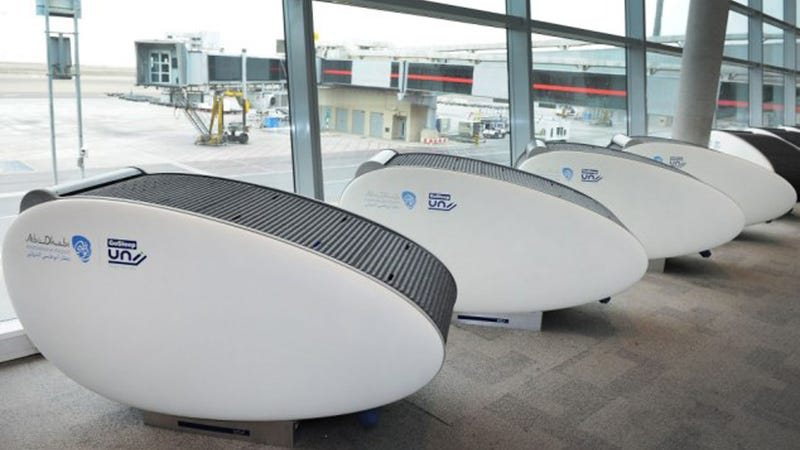 Pods Make Sleeping At The Airport Much Nicer, Or Way Weirder