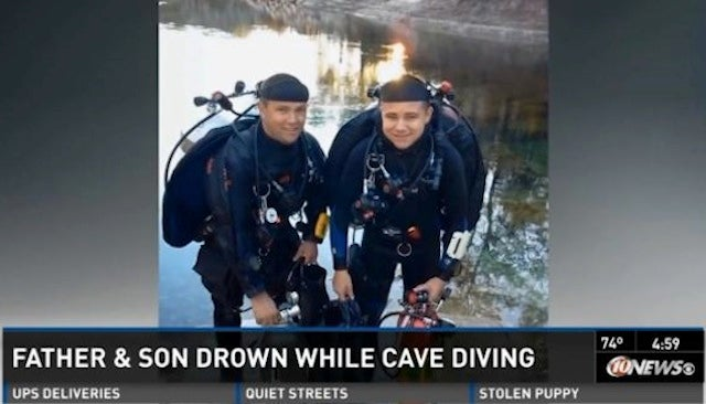 Father and Teenage Son Drown Testing Christmas Gifts During Cave Dive