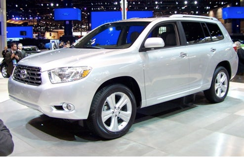 2009 Toyota Highlander To Get Four Cylinder Option