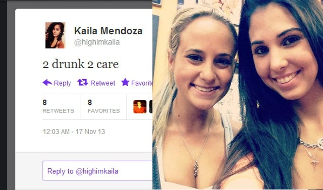 '2 Drunk 2 Care' Tweeted Woman Responsible for Fatal Accident