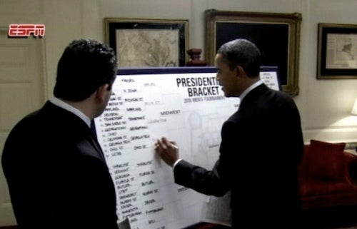 Let's Listen In As The Crazy People Talk About Obama's NCAA Bracket