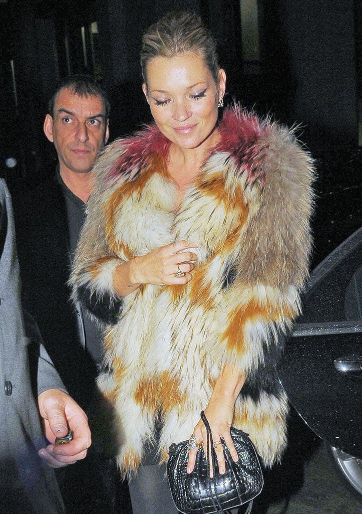Kate Moss Wears the Pelts of Five Unicorns and the Rainbow They Called Home